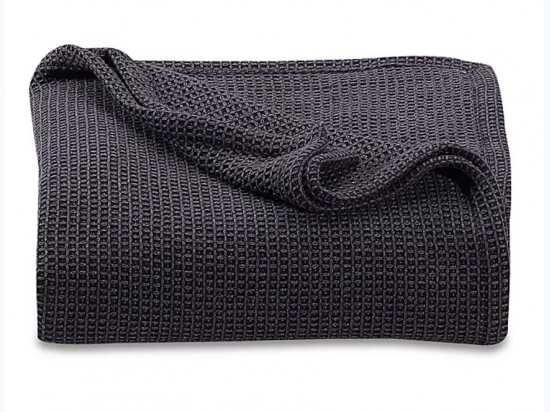 Kenneth Cole Reaction Home Waffle Twin Blanket in Black