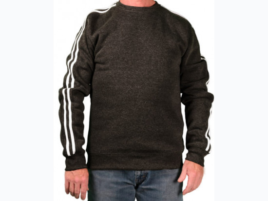 Men's Ditch Plains Long Sleeve Fleece With Contrasting Stripes - Size Large