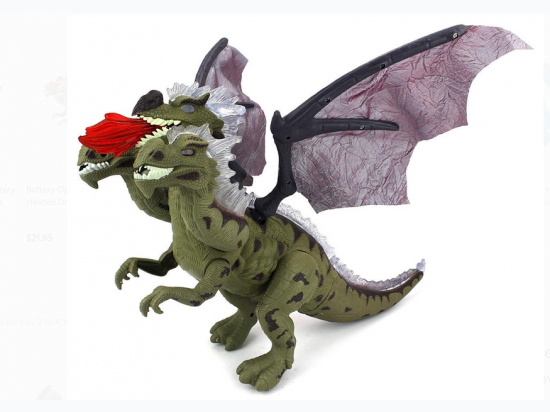 Battery Operated Walking Three Headed Dragon Toy  - Styles May Vary