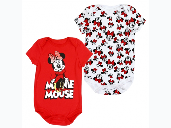 Newborn Girl's 2 Pack Minnie Mouse Creepers