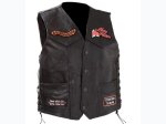 Diamond Plate™ Ladies' Rock Design Genuine Leather Vest