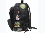 """Be A Rebel™ 17"""" Hippie Backpack with 15 Patches"""
