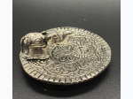 Metal Elephant Offering Plate and Incense Burner