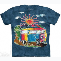 The Mountain - Batik Tour Bus Adult TShirt