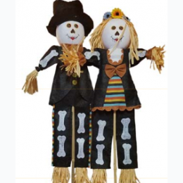 "Day Of The Dead 24"" Standing Couple Set"
