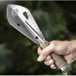 Multifunctional Stainless Steel With Sawtooth Garden Shovel