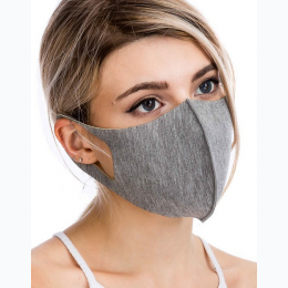 3 Layered Thick Fabric Stitched Face Mask