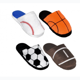 Boy's Sports Themed Slide Slipper