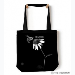 "Bee My Voice 18"" Tote Bag"