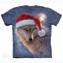 The Mountain - Holiday Wolf - Adult Tee