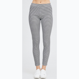 Junior's Black and White Checked Skinny Pants - Size Small