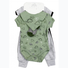 Newborn Boy's 5 Piece Dino Layette Set
