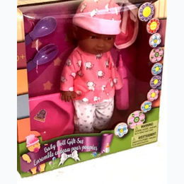 Baby Doll Gift Set - African American - Outfits Will Vary