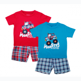 Toddler Boy's Monster Truck Short Set