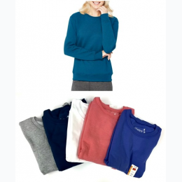 Women's Hanes Fleece Crew Neck Sweatshirt