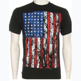 Big and Tall Men's Vintage Stars and Stripes T-Shirt