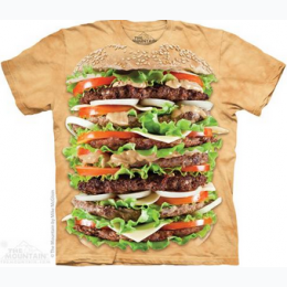 The Mountain - Epic Burger Adult TShirt