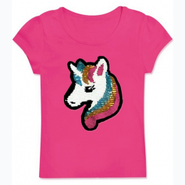 Girl's Sequin Unicorn T Shirt