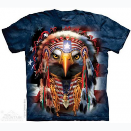 The Mountain - Native Patriot Eagle - Adult T