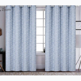 "Regal Comfort® Jacquard Blackout Curtain Panels With Grommet Top ""Blue"" - Single Panel 54"" x 84"""