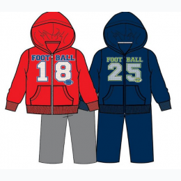 Boys Zip Front Jogger Set -Football MVP