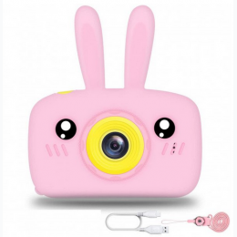 Children's HD 1080P Digital Camera with Video Recorder Camcorder - Pink Rabbit