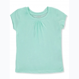 Girls Gathered Jersey Top
