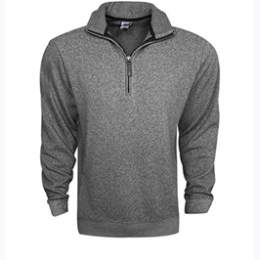 Men's Marled 1/4 Zip Pull Over Sweater - Small