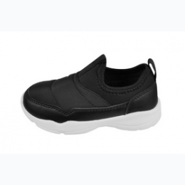 Infant Boy's Slip On White Sole Athletic With Black Upper