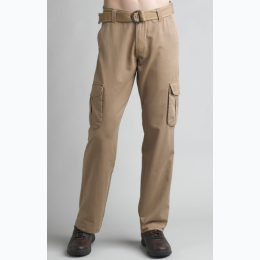Men's Belted Cargo Pant In Khaki - 32 Length