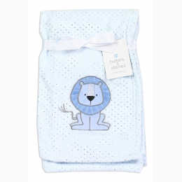 Soft Lion Applique Baby Blanket