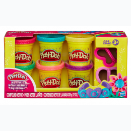 Play-Doh Sparkle Compound 6Can and 2Cutter Collection