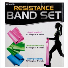 Resistance Band Set with 3 Tension Levels