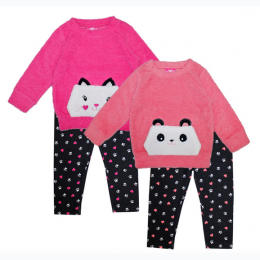 Toddler Woobie Top with Embroidery and Legging