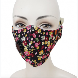 Colorful Flower Reuseable Mask With Inner Pocket And Valve