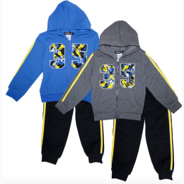 Toddler Boy's 35 Zip Front Hoodie Jog Set
