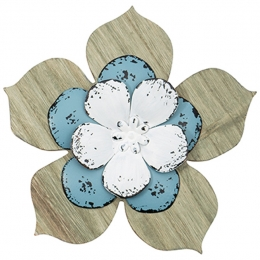 """Slate Blue Flower"" Wall Décor"