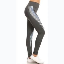 Women's Color Block Yoga Legging In Grey