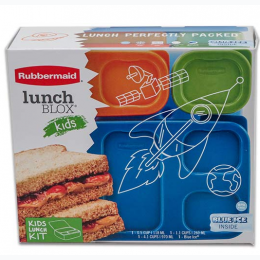 Rubbermaid 7 Piece Kids Lunch Blox Set - Rocket Box
