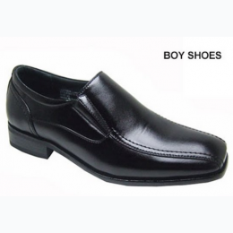 Boy's Faux Leather Slip On In Black