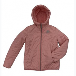 Girls 7-16 ZeroXposur Reversible Berber Jacket in Coral