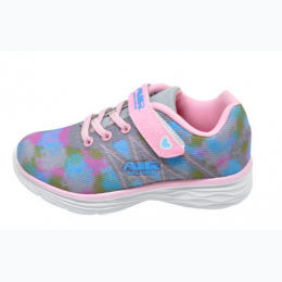 Girl's Running Sneaker - Blue/Pink