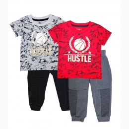Toddler Boys Hustle Screen Top with Jogger Pant