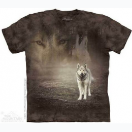 The Mountain - Grey Wolf Portrait Adult T-Shirt