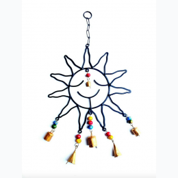 "Sun Windchime w/ Colorful Beads 18""L"