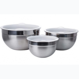 6pc stainless steel mixing bowl set