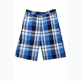 Men's Big & Tall Checkered Short in Royal Blue