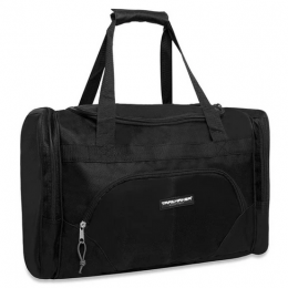 Trailmaker Deluxe 20 Inch Duffel Bag With Large Side Pockets - In Black