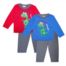 Toddler Boy's Silly Saurus T-Rex Fleece Set