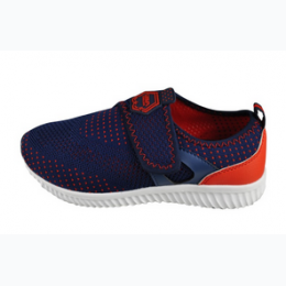Infant Knit Upper Velcro Enclosure Athletic Shoe in Navy and Red